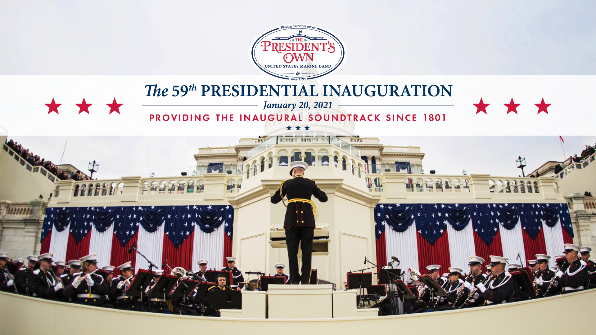 The President's Own United States Marine Band at the Presidential Inauguration of 2021