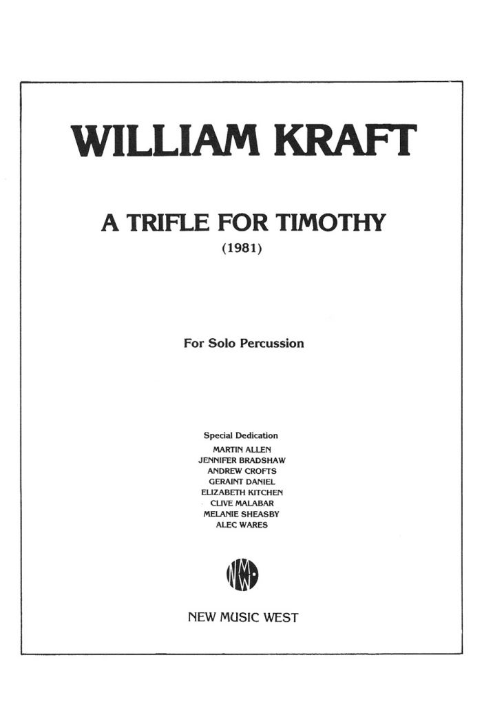 A Trifle for Timothy (1981)
