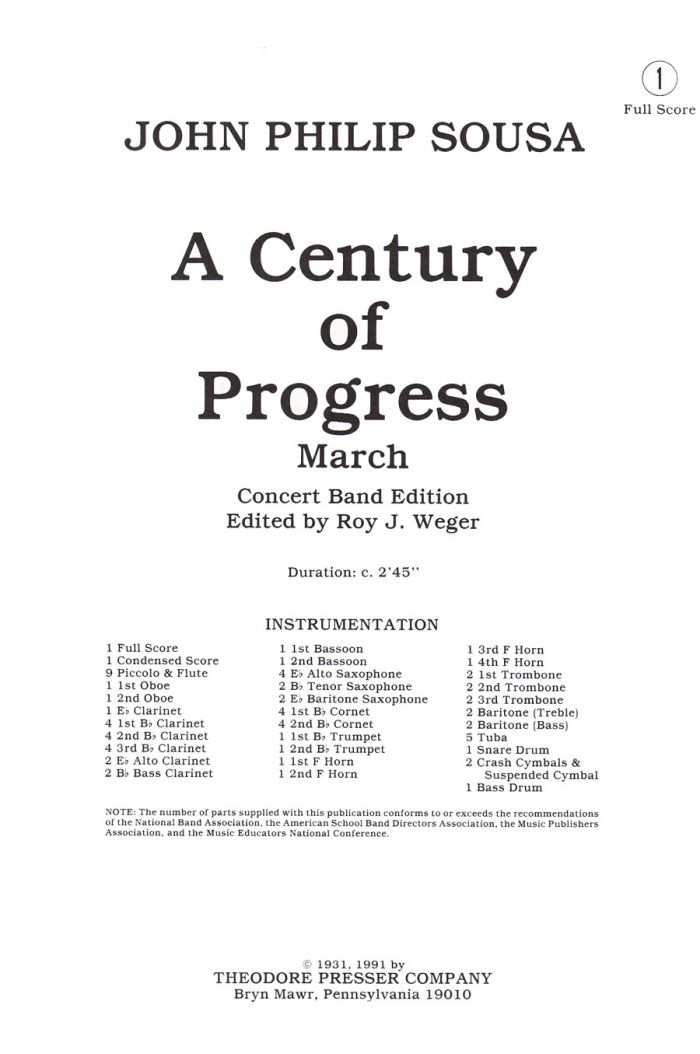 A Century Of Progress March
