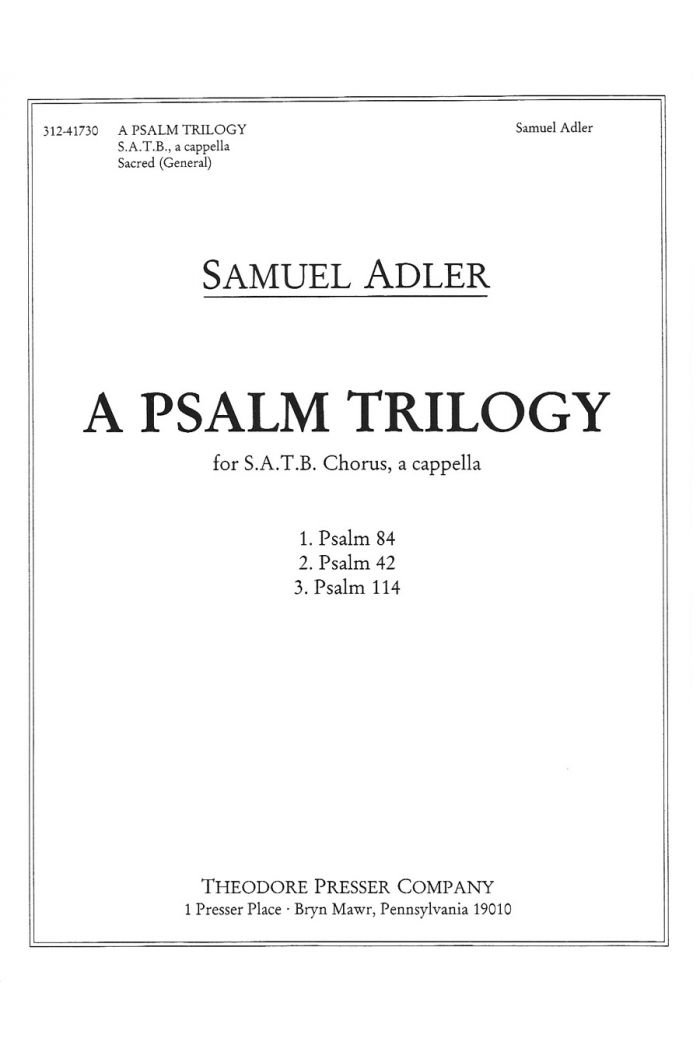 A Psalm Trilogy
