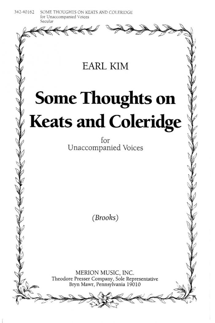 Some Thoughts On Keats and Coleridge